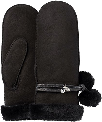 UGG Women's Brita Waterproof Sheepskin Mitten with Charm Black SM/MD by UGG