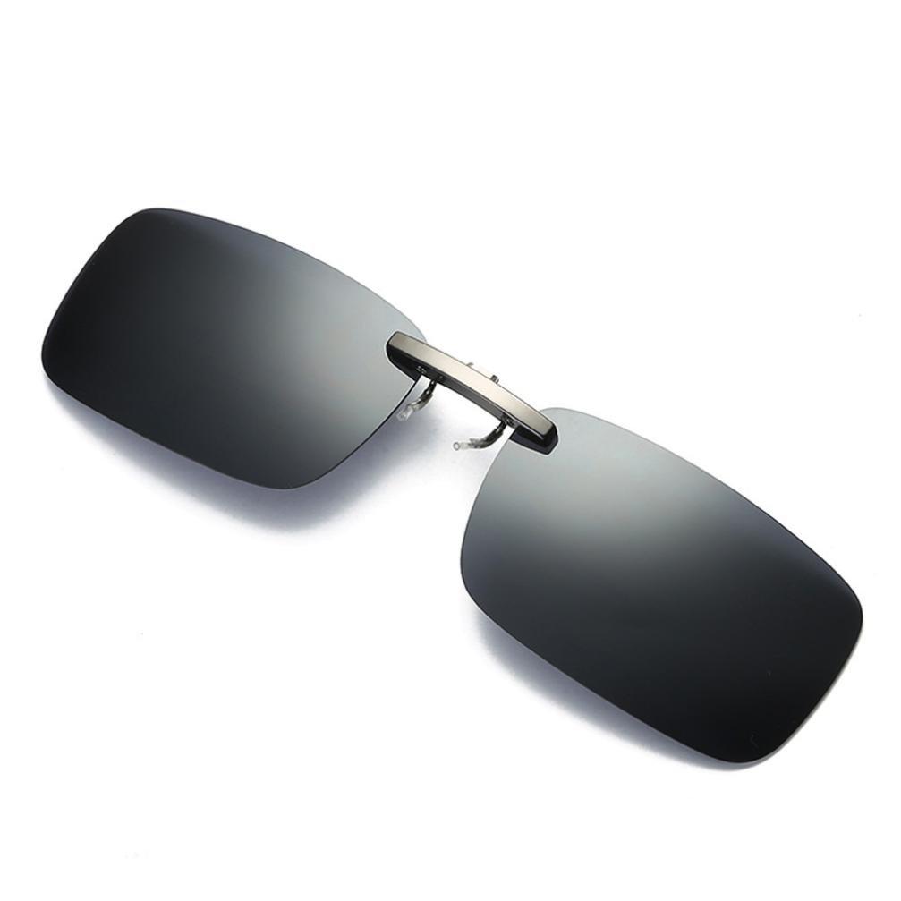 Occhiali da sole, Odejoy Obiettivo di visione notturna staccabile che guida la clip polarizzata del metallo sugli occhiali da sole di vetro Cat occhio lenti a specchio piatto ultra sottile