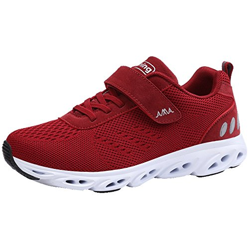 Red Athletic Mens Jogging Monrinda Sneakers Shoes 9 Womens 5 Trainers Absorbing Size Lightweight Sports Shock Breathable 4 Running Gym UUqvP5