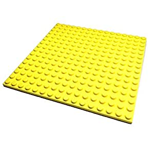 "Lego Parts: Friends Building Plate ""16 x 16 Studs"" (Service Pack 91405 - Bright Light Yellow)"