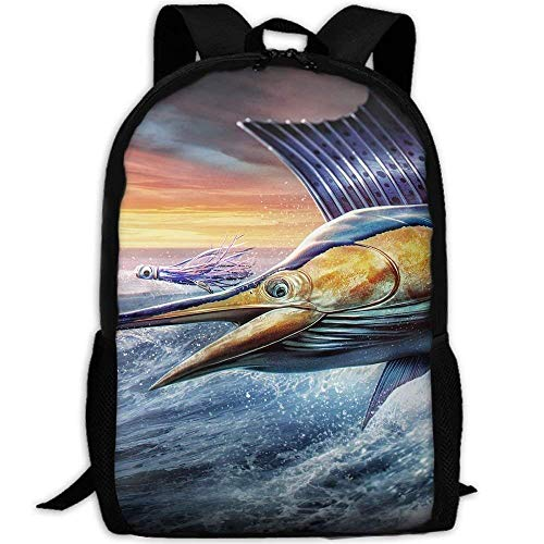 Mint 2030 - Backpack Cool Flying Sailfish Womens Laptop Backpacks School Bag Travel Daypack