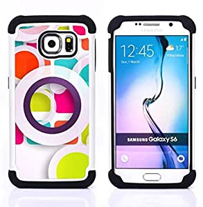 For Samsung Galaxy S6 G9200 - white pastel abstract art Dual Layer caso de Shell HUELGA Impacto pata de cabra con im??genes gr??ficas Steam - Funny Shop -