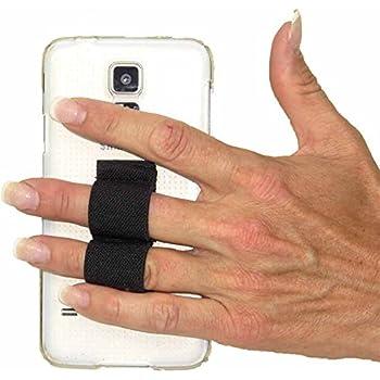 LAZY-HANDS 2-Loop Phone Grip - FITS MOST - Black