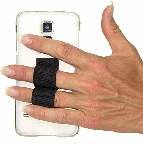 LAZY-HANDS 2-Loop Phone Grip - FITS MOST - Black