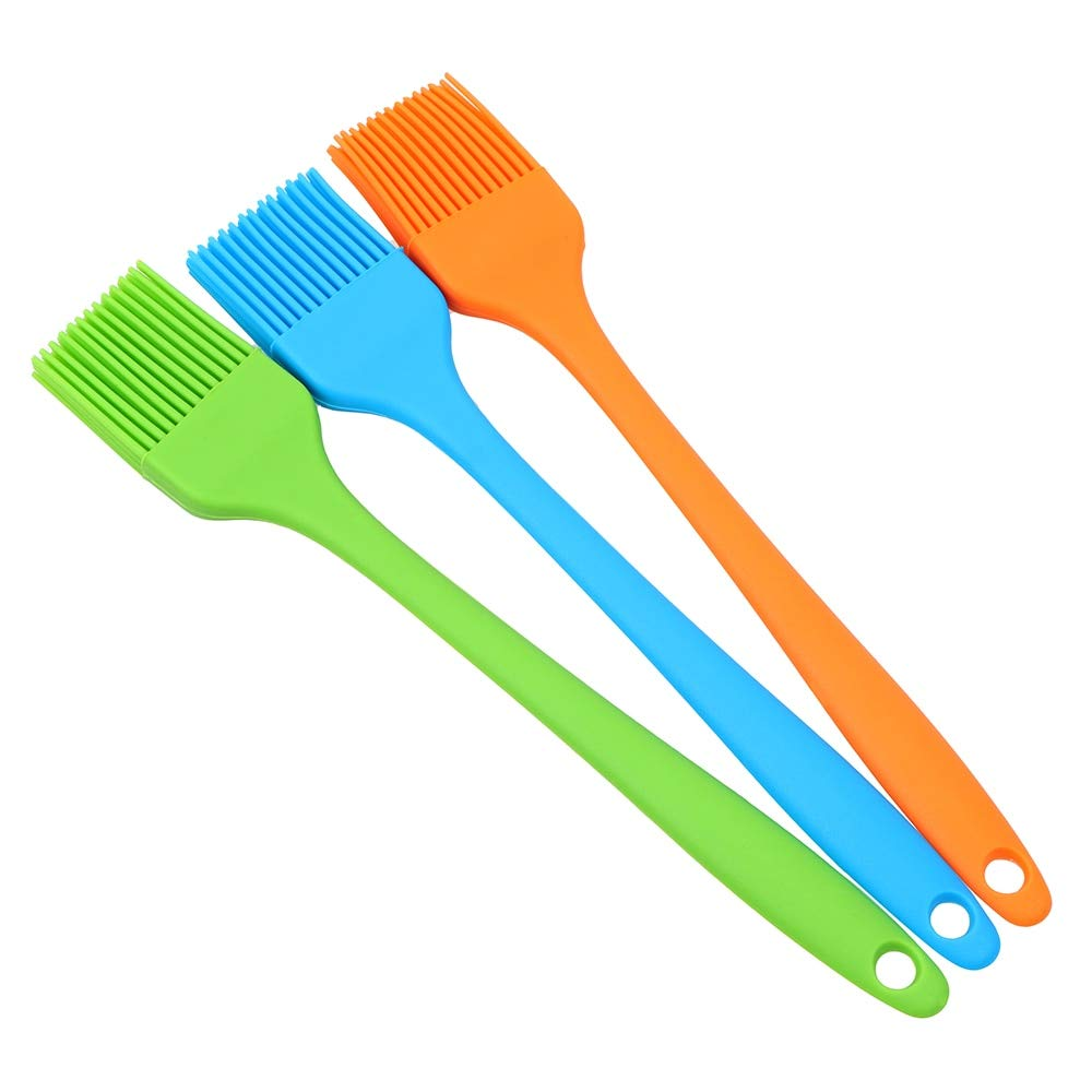 Brush Grill - Flexible Silicone Basting Brush Grilling Cook Kitchen High Heat Resistance Brush Soft Pastry Brushes BBQ
