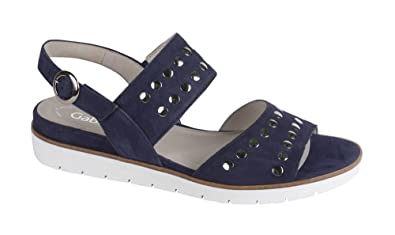 c872e7c8fc4f7f Gabor Sandale Damen dunkelblau Größe 46  Amazon.de  Schuhe   Handtaschen