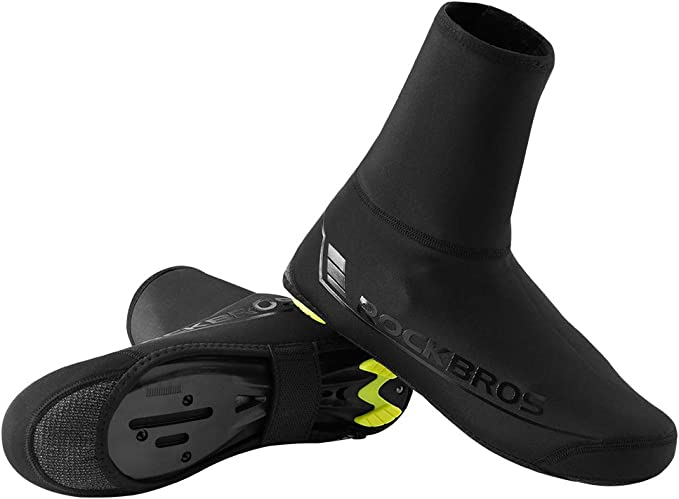 RockBros Cycling Warm Windproof Lycra Protector Overshoes Shoe Covers Black