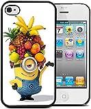 Coque silicone BUMPER souple IPHONE 5/5s - Ananas moche et mechant minion drole motif 2 DESIGN case + Film de protection OFFERT