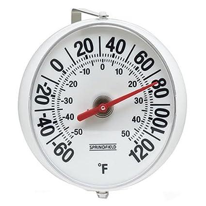 Taylor Precision Products Springfield termómetro grande y en negrita con soporte de montaje (5,