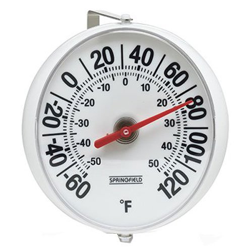 Springfield Big and Bold Thermometer with Mounting Bracket (5.25-Inch) (Thermometer Window)