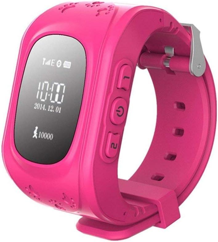 Zeerkeer Rastreador GPS Reloj Inteligente para Niños,GPS/LBS Posicionamiento en Tiempo Real Reloj SOS Antipérdida Reloj Inteligente para Niños……