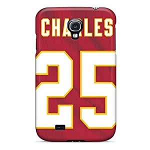 Scratch Resistant Hard Cell-phone Cases For Samsung Galaxy S4 (WxN6133SJMj) Unique Design Nice Kansas City Chiefs Pictures WANGJING JINDA
