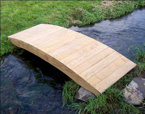 10' Treated Pine Fiore Plank Garden Bridge by Fifthroom