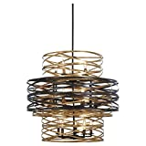 Cheap Minka Lavery Chandelier Pendant Lighting 4679-111 Vortic Flow Dining Room Fixture, 18-Light 1080 Watts, Dark Bronze