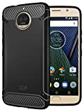 TUDIA Moto G5S Plus Case, Carbon Fiber Design Lightweight [TAMM] TPU Bumper Shock Absorption Cover for Motorola Moto G5S Plus (Black)