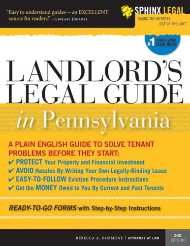 Landlord's Legal Guide in Pennsylvania (Legal Survival Guides) (Legal Survival Guides)