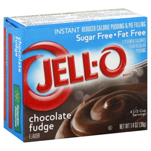 Jell-o Pudding & Pie Filling Reduced Calorie, Instant Chocolate Fudge 1.4 Oz- 12 Packs (Chocolate Fudge Instant Pudding And Pie Filling Mix)