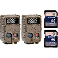 (2) CUDDEBACK E2 Long Range IR Infrared 20 MP Game Hunting Cameras + SD Cards