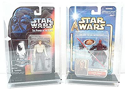 Acrylic Display Case Star Wars Star Case Premium for Star Wars, GI Joe and Other Qty of 2
