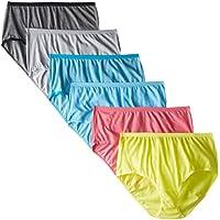 Fruit of the Loom Women's 6 Pack Brief Panties