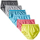 Fruit of the Loom Women's 6 Pack Beyond Soft Brief Panties, Assorted, 7