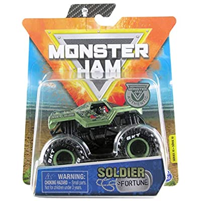 Monster Jam 2020 Spin Master 1:64 Diecast Monster Truck with Wristband: Legacy Trucks Soldier Fortune: Toys & Games