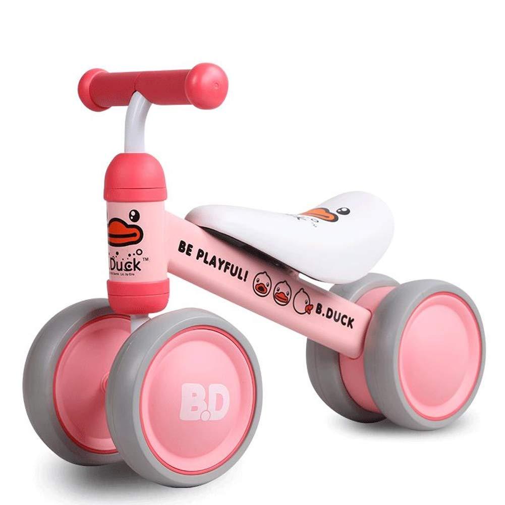 FYABB Baby Balance Biciclette Bicicletta, Bambini Bambino Ride su Walker Giocattolo Senza Pedale per 6-24 Mesi all'aperto Indoor,rosa