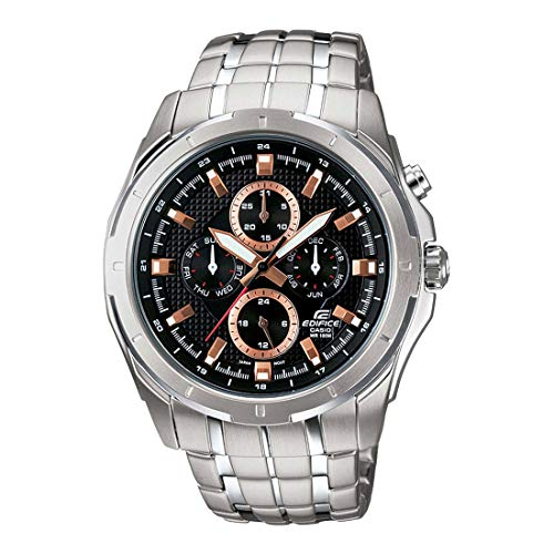 Casio Edifice Analog Black Dial Men's Watch   EF 328D 1A5VDF ED374