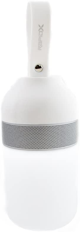 LunaX Portable Bluetooth Speaker with LED Light - White