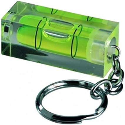 Schlüsselanhänger Mit Mini Wasserwaage Von Rkgifts Werkzeug Heimwerken Originelles Geschenk 2 Achsen Mini Spirit Level Küche Haushalt