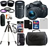 Canon EOS Rebel T5i Digital Camera SLR Kit With Canon EF-S 18-55mm IS II STM Lens + Canon EF-S 55-250mm f/4.0-5.6 IS STM Autofocus Lens + 32GB Card and Reader + Wide angle and Telephoto Lenses + Tripod + Battery + Filters + Accessory Kit Review