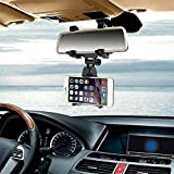 Universal Car Rear View Mirror Bracket Mount Holder for 4-6.3 inch Smartphone