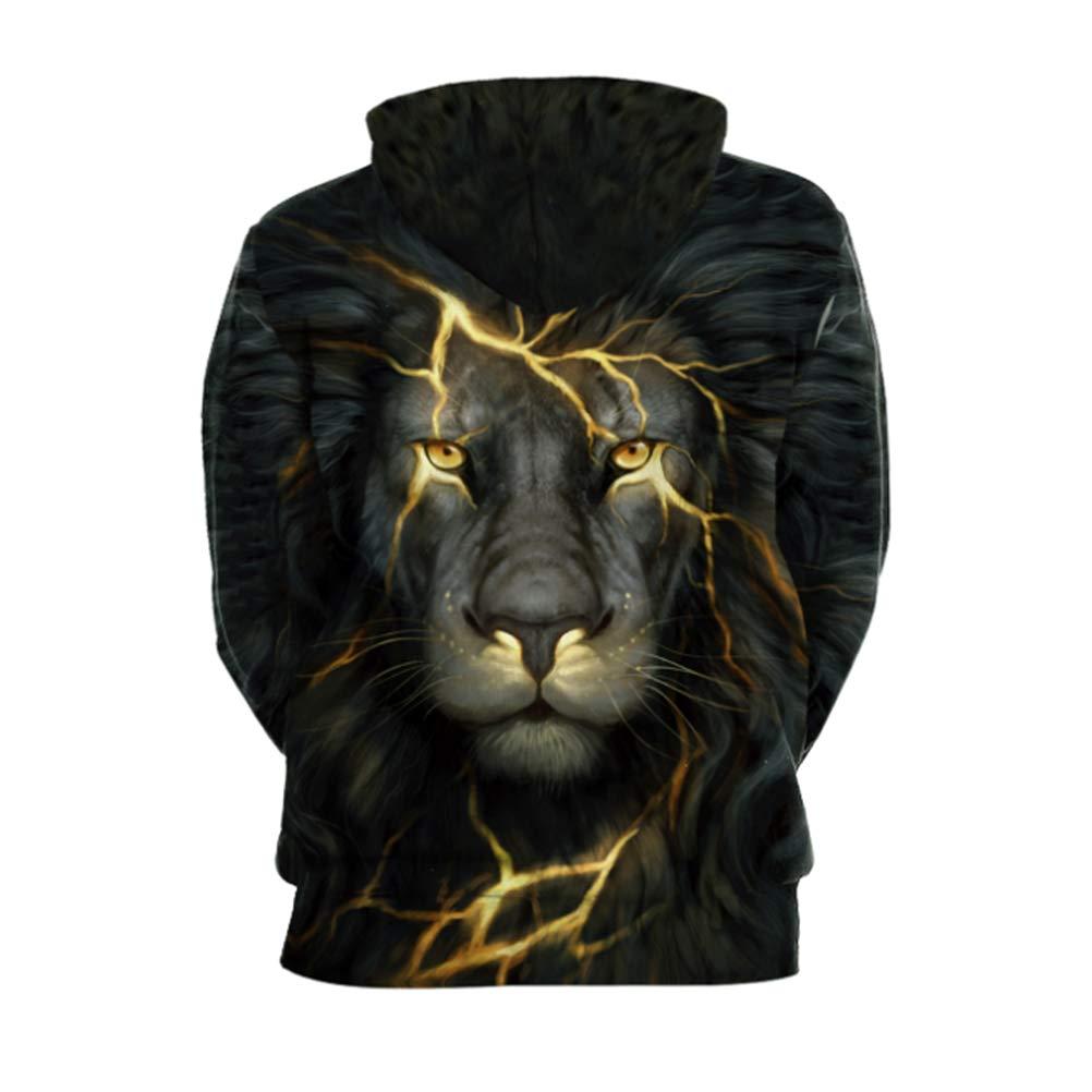 NewCime Unisex Realistic Galaxy Animal 3D Digital Printed Pullover Hooded Sweatshirt Hoody Shirt