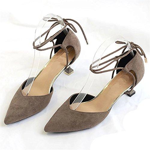 Gris Haute Mariée Femmes Pointu Talons Bal Court De Bout Ruiren Stiletto Chaussures Bretelles De Mariage De Chaussures IawdW6qc1p