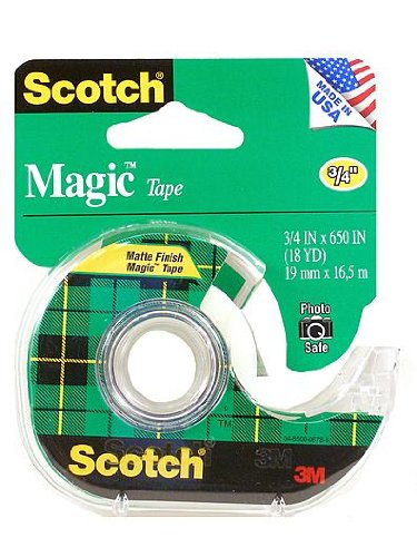 Scotch Magic Tape 3/4 in. x 36 yd. refill roll with 1 in. core [PACK OF 6 ]