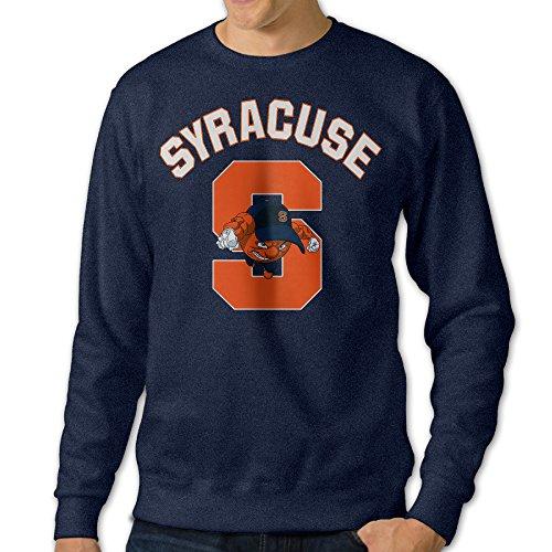 BestGifts Men's Syracuse University Crew Neck Sweatshirts Navy Size L