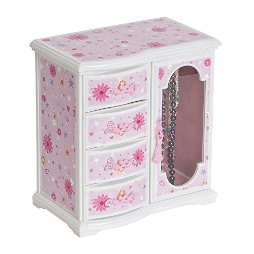 Mele & Co. Hyacinth Ballerina Music Jewelry Box for Girls, Necklace and Earring Organizer