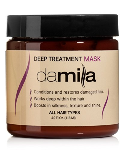 Deep Treatment Mask, Hair Rejuvenating Mask - Hydrolyzed Keratin to Strengthen and Moisturize - Conditions Damaged Hair Treatment by Damila (4 oz) ()