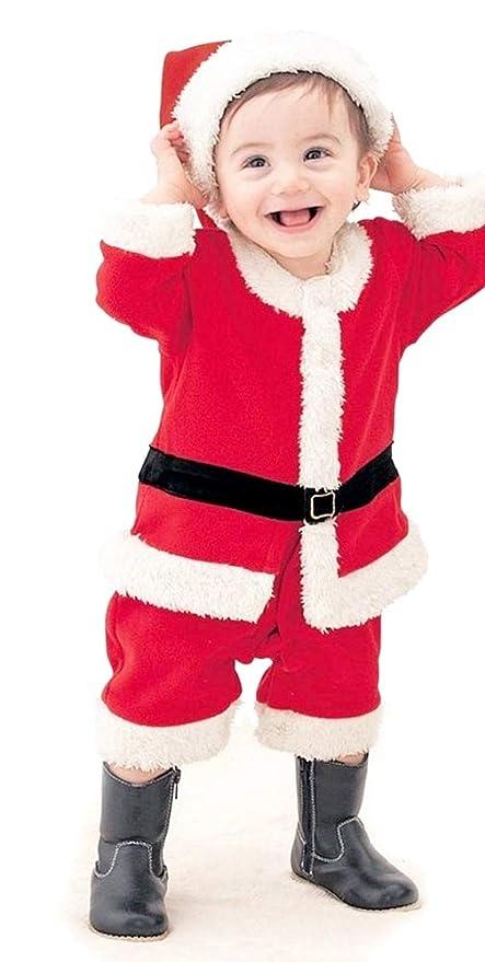 Disfraz de Papá Noel - Vestido de bebé - Mono completo - Forro ...