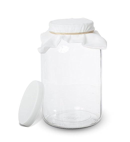Kitchentoolz 1 galón Glass Jar Kombucha-Inicio elaboración de la ...