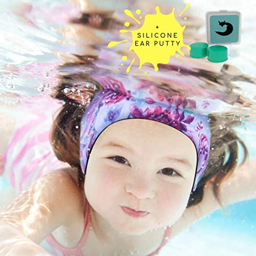 Ear Band for Kids Toddlers & Babies with Ear Tubes ~Free Putty Earplugs ~The #1 Headband ENT Physicians Recommend~ Holding Plugs in Place and Ears Dry (Small 3 Months - 18 Months) ()