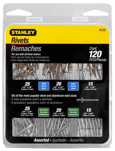 Assorted Rivets - Stanley R120 Rivet Pack Assortment
