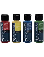 Realeather Acrylic Paint Set, Primary Colors
