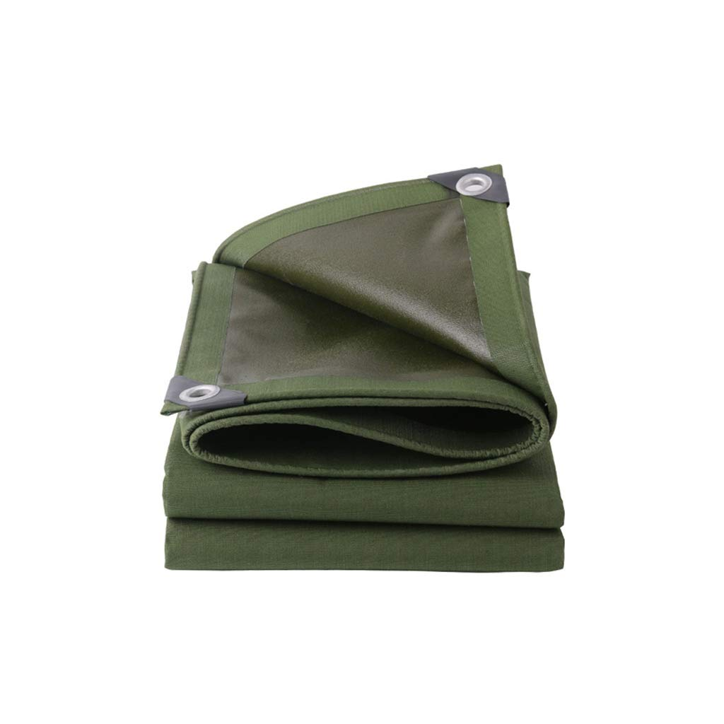 LCSHAN 防水布キャンバス屋外多目的防塵日焼け止めターパリン (サイズ さいず : 4*4m) 4*4m  B07K6B811R