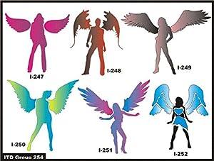 Amazon. Com: honbay 12pcs different style plastic stencils.