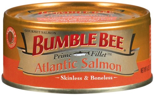UPC 086600123509, Bumble Bee Prime Fillet Atlantic Salmon, 6-Ounce Cans (Pack of 12)