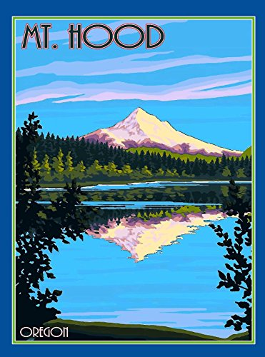 MAGNET Mt. Mount Hood Oregon United States America Travel Art Magnet Advertisement (Oregon Mount Hood)