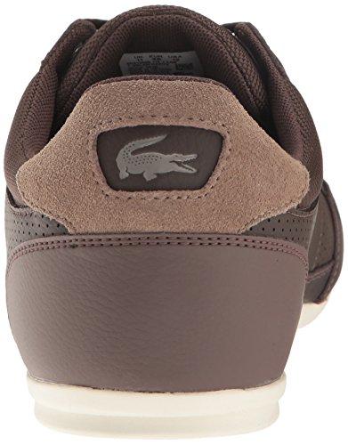 Lacoste Men's Chaymon 117 1 Casual Shoe Fashion Sneaker, Dark Brown, 7 M US