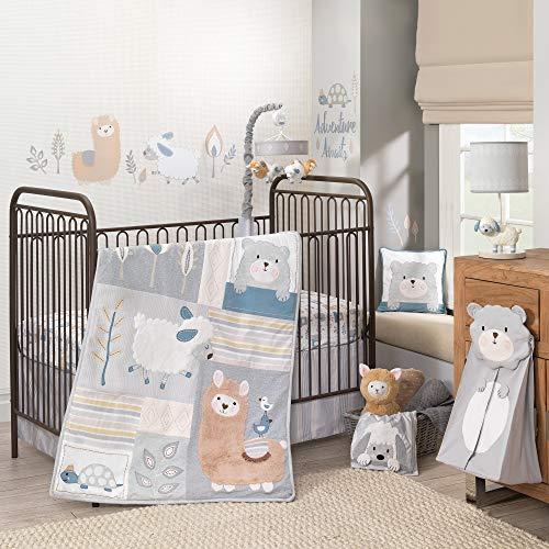 Lambs & Ivy Happi by Dena Little Llama Nursery 4-Piece Baby Crib Bedding Set