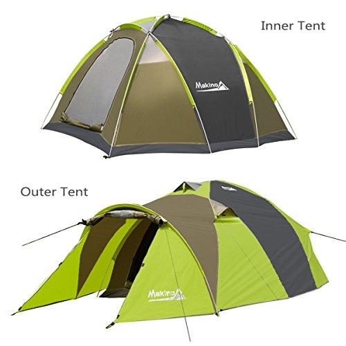 Makino 2-3 Person Tunnel Tent Backpacking 3 Season for C&ing Auto Tent with Rainfly  sc 1 st  Trek-O-Hike & Makino 2-3 Person Tunnel Tent Backpacking 3 Season for Camping ...